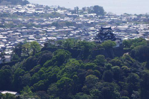 彦根城遠景(佐和山城址より) – Hikone castle