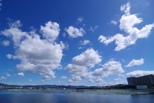 琵琶湖と空 – Lake Biwa