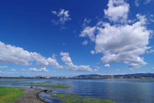 琵琶湖と空(2) – Lake Biwa