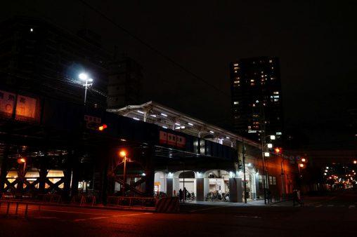 夜の今宮戎駅 – Imamiya-ebisu Station