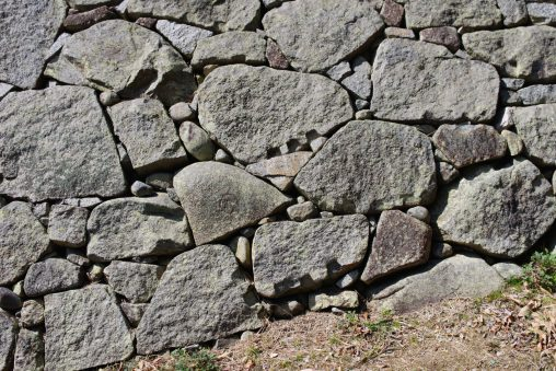 明石城石垣の刻印石 – Carved stone
