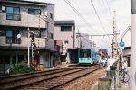 阪堺線船尾駅とモ601形電車 – Type 601 at Funao station