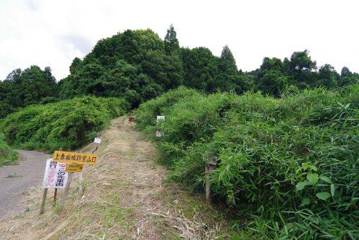 上赤坂城登山口 – Trail on Kami-Akasaka castle