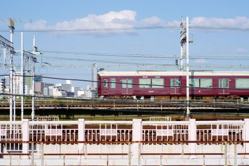 十三大橋と阪急電車 – Hankyu railway and Juso Bridge