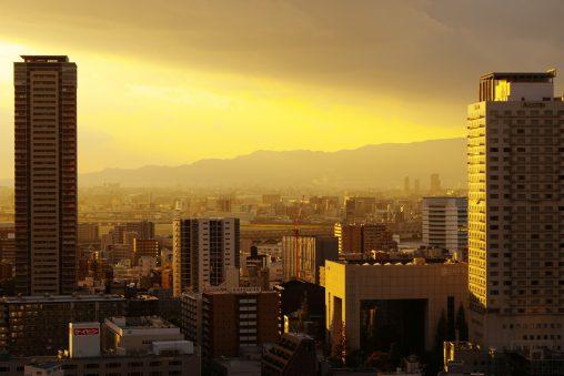 黄色い夕焼け – Yellow sunset