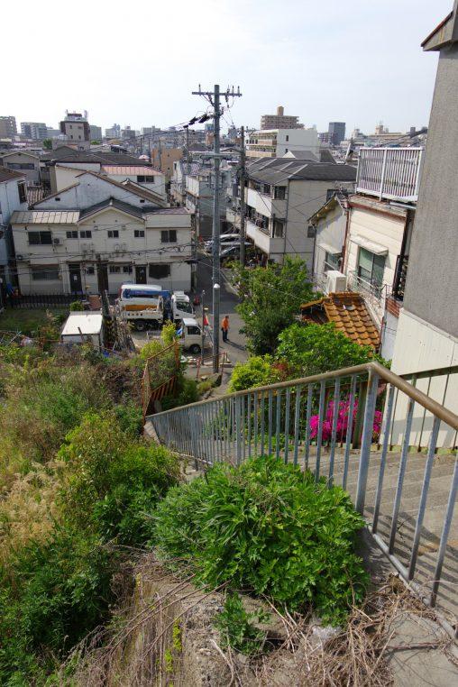 上町台地から見下ろす – from Uemachi Plateau