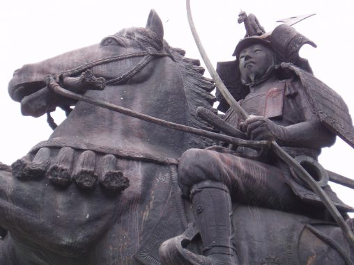 源義仲像(川西市)- Statue of Minamoto no Yoshinaka